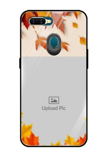 Oppo A7 Photo Printing on Glass Case  - Autumn Maple Leaves Design