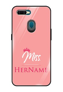 Oppo A7 Custom Glass Phone Case Mrs with Name