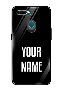 Oppo A7 Your Name on Glass Phone Case
