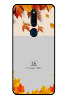 Oppo F11 Pro Photo Printing on Glass Case  - Autumn Maple Leaves Design