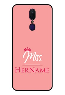Oppo F11 Custom Glass Phone Case Mrs with Name