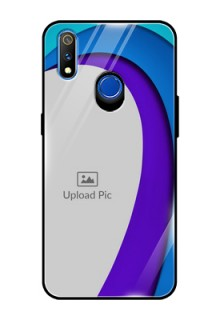 Realme 3 Pro Photo Printing on Glass Case  - Simple Pattern Design
