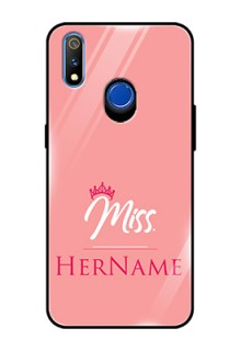 Realme 3 Pro Custom Glass Phone Case Mrs with Name