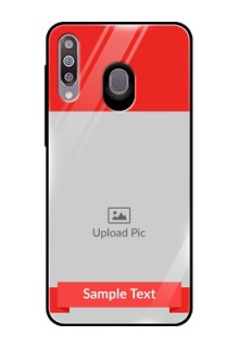Samsung Galaxy M30 Custom Glass Phone Case  - Simple Red Color Design