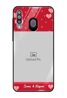 Samsung Galaxy M30 Custom Glass Phone Case  - Valentines Day Design