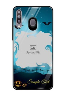 Samsung Galaxy M30 Custom Glass Phone Case  - Halloween frame design