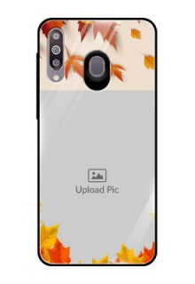 Samsung Galaxy M30 Photo Printing on Glass Case  - Autumn Maple Leaves Design