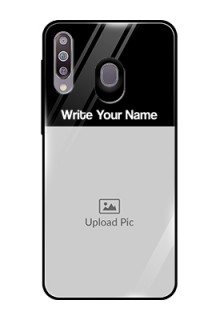 Galaxy M30 Photo with Name on Glass Phone Case