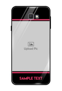 Samsung Galaxy On Prime Custom Glass Mobile Case  - with Add Text Design