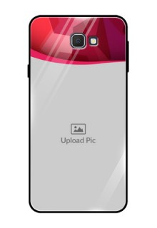 Samsung Galaxy On Prime Custom Glass Mobile Case  - Red Abstract Design