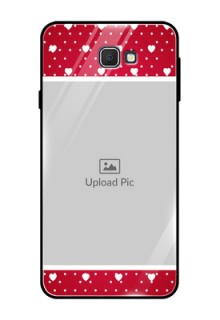 Samsung Galaxy On Prime Photo Printing on Glass Case  - Hearts Mobile Case Design