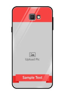 Samsung Galaxy On Prime Custom Glass Phone Case  - Simple Red Color Design