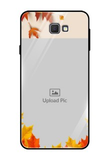 Samsung Galaxy On Prime Photo Printing on Glass Case  - Autumn Maple Leaves Design