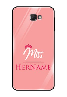 Galaxy On7 Prime Custom Glass Phone Case Mrs with Name
