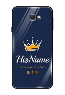Galaxy On7 Prime Glass Phone Case King with Name
