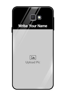 Galaxy On7 Prime Photo with Name on Glass Phone Case