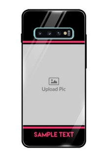 Samsung Galaxy S10 Plus Custom Glass Mobile Case  - with Add Text Design