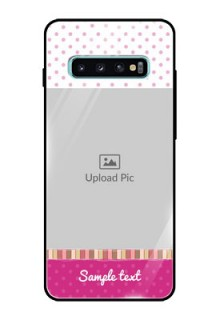 Samsung Galaxy S10 Plus Photo Printing on Glass Case  - Cute Girls Cover Design