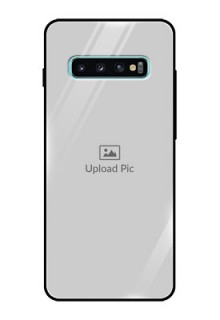 Samsung Galaxy S10 Plus Photo Printing on Glass Case  - Upload Full Picture Design