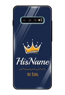 Galaxy S10 Plus Glass Phone Case King with Name