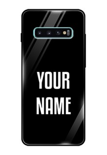 Galaxy S10 Plus Your Name on Glass Phone Case