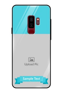 Samsung Galaxy S9 Plus Personalized Glass Phone Case  - Simple Blue Color Design