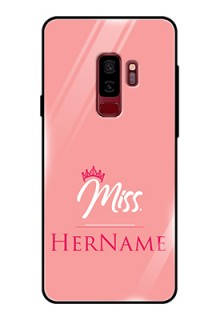 Galaxy S9 Plus Custom Glass Phone Case Mrs with Name