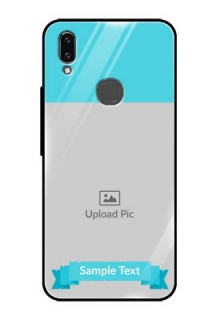 Vivo V9 Youth Personalized Glass Phone Case  - Simple Blue Color Design