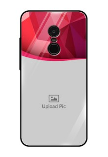 Redmi Note 4 Custom Glass Mobile Case  - Red Abstract Design