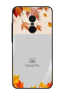 Redmi Note 4 Photo Printing on Glass Case  - Autumn Maple Leaves Design