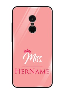 Redmi Note 4 Custom Glass Phone Case Mrs with Name