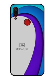 Redmi Note 7 Photo Printing on Glass Case  - Simple Pattern Design