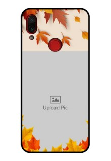 Redmi Note 7 Photo Printing on Glass Case  - Autumn Maple Leaves Design