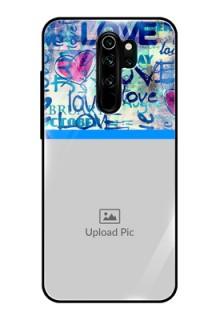 Redmi Note 8 Pro Custom Glass Mobile Case  - Colorful Love Design