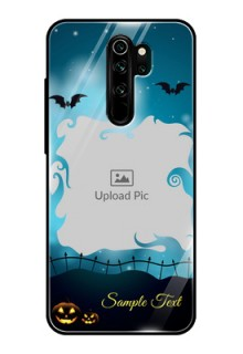 Redmi Note 8 Pro Custom Glass Phone Case  - Halloween frame design