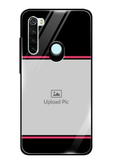 Redmi Note 8 Custom Glass Mobile Case  - with Add Text Design