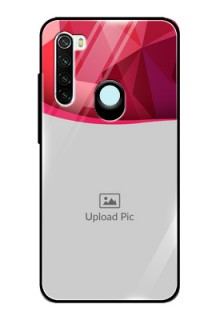 Redmi Note 8 Custom Glass Mobile Case  - Red Abstract Design