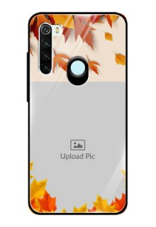 Redmi Note 8 Photo Printing on Glass Case  - Autumn Maple Leaves Design