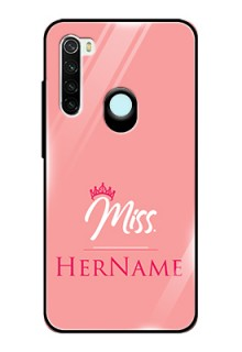 Redmi Note 8 Custom Glass Phone Case Mrs with Name