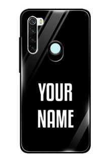 Redmi Note 8 Your Name on Glass Phone Case