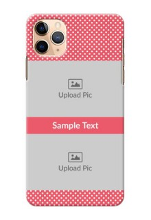 Iphone 11 Pro Max Custom Mobile Case with White Dotted Design