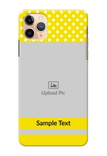 Iphone 11 Pro Max Custom Mobile Covers: Bright Yellow Case Design