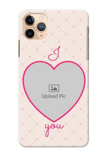 Iphone 11 Pro Max Personalized Mobile Covers: Heart Shape Design