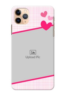 Iphone 11 Pro Max Personalised Phone Cases: Love Shape Heart Design