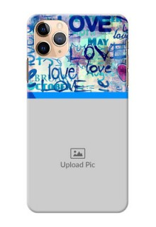 Iphone 11 Pro Max Mobile Covers Online: Colorful Love Design
