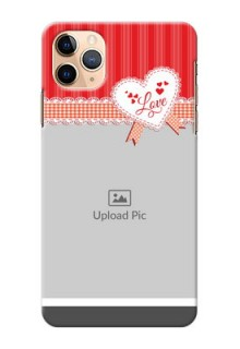 Iphone 11 Pro Max phone cases online: Red Love Pattern Design