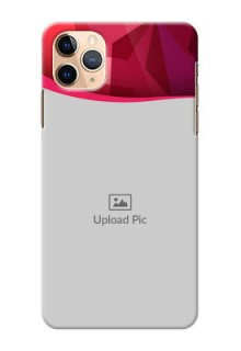 Iphone 11 Pro Max custom mobile back covers: Red Abstract Design