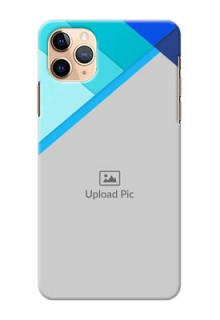 Iphone 11 Pro Max Phone Cases Online: Blue Abstract Cover Design