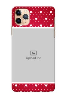 Iphone 11 Pro Max custom back covers: Hearts Mobile Case Design