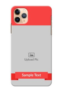 Iphone 11 Pro Max Personalised mobile covers: Simple Red Color Design